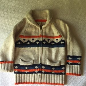 GAP zip-up knit sweater